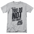 Fight Club t-shirt Rule 1 mens athletic heather