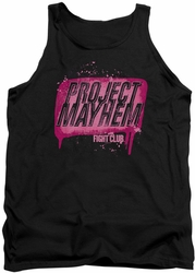 Fight Club tank top Project Mayhem mens black