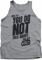 Fight Club tank top Rule 1 mens athletic heather