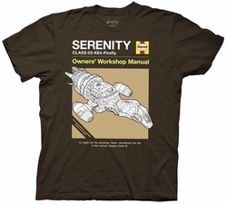 Firefly Haynes Owner Manual Serenity Ship mens t-shirt pre-order