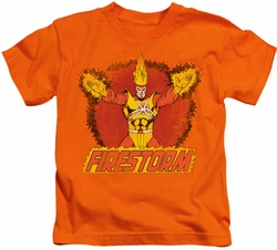 Firestorm kids t-shirt Ring Of Firestorm orange