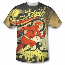 Flash front sublimation t-shirt Just Passing Through short sleeve White