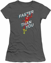 Flash juniors t-shirt Faster Than You charcoal