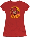 Flash juniors t-shirt Flash Circle red