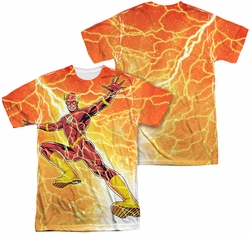 Flash mens full sublimation t-shirt Fast As Lightning