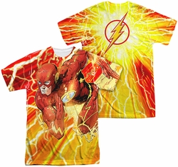 Flash mens full sublimation t-shirt Lightning Dash