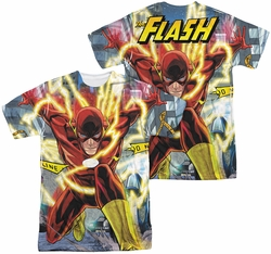 Flash mens full sublimation t-shirt Police Line