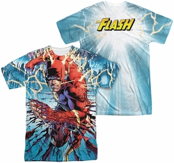 Flash mens full sublimation t-shirt Ripping And Tearing