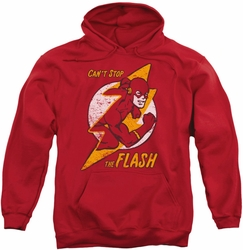 Flash pull-over hoodie Bolt adult red