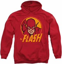 Flash pull-over hoodie Circle adult red