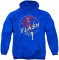Flash pull-over hoodie Comics adult royal blue