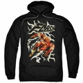 Flash pull-over hoodie Electric Run adult Black
