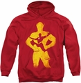 Flash pull-over hoodie Knockout adult red