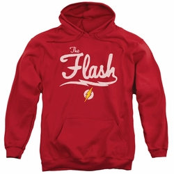 Flash pull-over hoodie Old School Flash adult Red