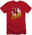 Flash slim-fit t-shirt Circled Profile mens red