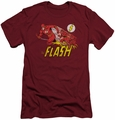 Flash slim-fit t-shirt Crimson Comet mens cardinal