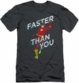 Flash slim-fit t-shirt Faster Than You mens charcoal