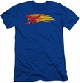 Flash slim-fit t-shirt Fastest Man Alive mens royal blue