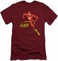 Flash slim-fit t-shirt Jetstream mens cardinal