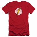 Flash slim-fit t-shirt Logo Distressed mens red