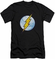 Flash slim-fit t-shirt Neon Distress Logo mens black