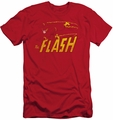 Flash slim-fit t-shirt Speed Distressed mens red