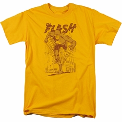 Flash t-shirt Busting Out mens gold