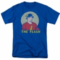 Flash t-shirt Faded Circle mens royal blue