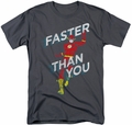 Flash t-shirt Faster Than You mens charcoal