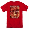 Flash t-shirt Fastest Man Alive mens red