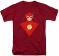Flash t-shirt Flash mens cardinal