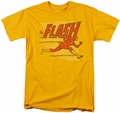 Flash t-shirt Speed Lines mens gold