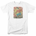 Flash t-shirt Tattered Poster mens white