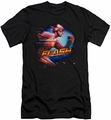 Flash TV slim-fit t-shirt Barry Side Portrait mens black