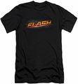 Flash TV slim-fit t-shirt Logo  mens black