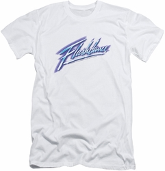 Flashdance slim-fit t-shirt Logo mens white