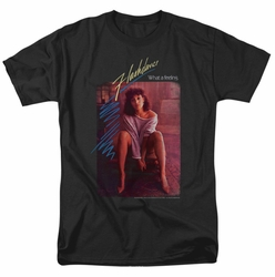Flashdance t-shirt Title mens black