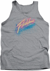 Flashdance tank top Spray Logo mens heather