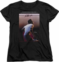 Footloose womens t-shirt Poster black