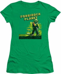 Forbidden Planet juniors t-shirt Old Poster kelly green