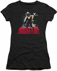 Forbidden Planet juniors t-shirt Robby And Woman black