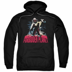 Forbidden Planet pull-over hoodie Robby And Woman adult black