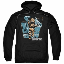 Forbidden Planet pull-over hoodie Robby Walks adult black