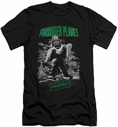 Forbidden Planet slim-fit t-shirt Robot Poster mens black