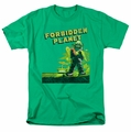 Forbidden Planet t-shirt Old Poster mens kelly green