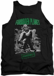 Forbidden Planet tank top Robot Poster mens black