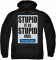 Forrest Gump pull-over hoodie Stupid Is adult black