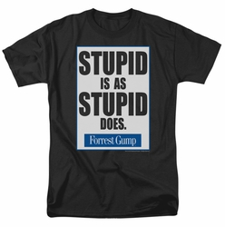 Forrest Gump t-shirt Stupid Is mens black