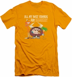 Foster's slim-fit t-shirt Imaginary Friends mens gold