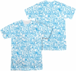 Fosters mens full sublimation t-shirt Character Sketches